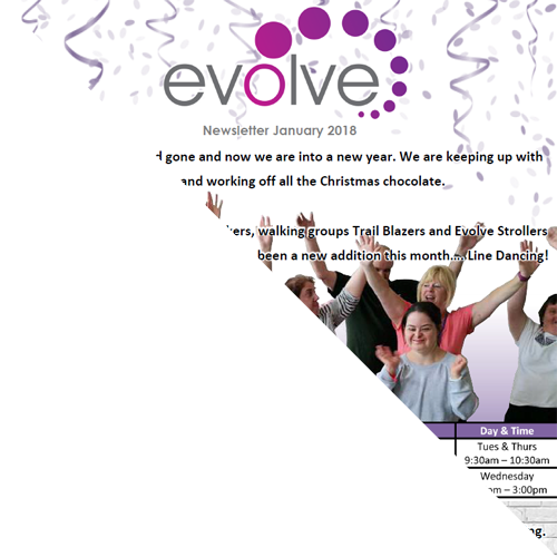 Evolve Newsletter Website Graphic